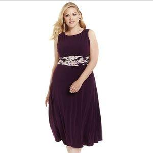 Jessica Howard Women's Plus Size Empire-Waist Dres